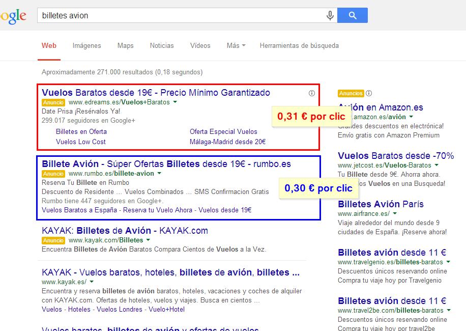 En este ejemplo, Juan y Ramón son los propietarios de rumbo.es y edreams.es, respectivamente